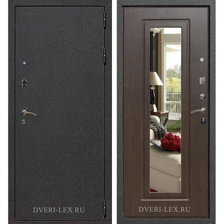 стальная дверь венге с зеркалом